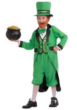 Kids Lucky Leprechaun Costume Alt 1