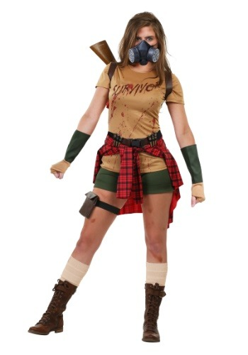 Click Here to buy Ladies Zombie Survivor Costume from HalloweenCostumes, USA Funds & Shipping