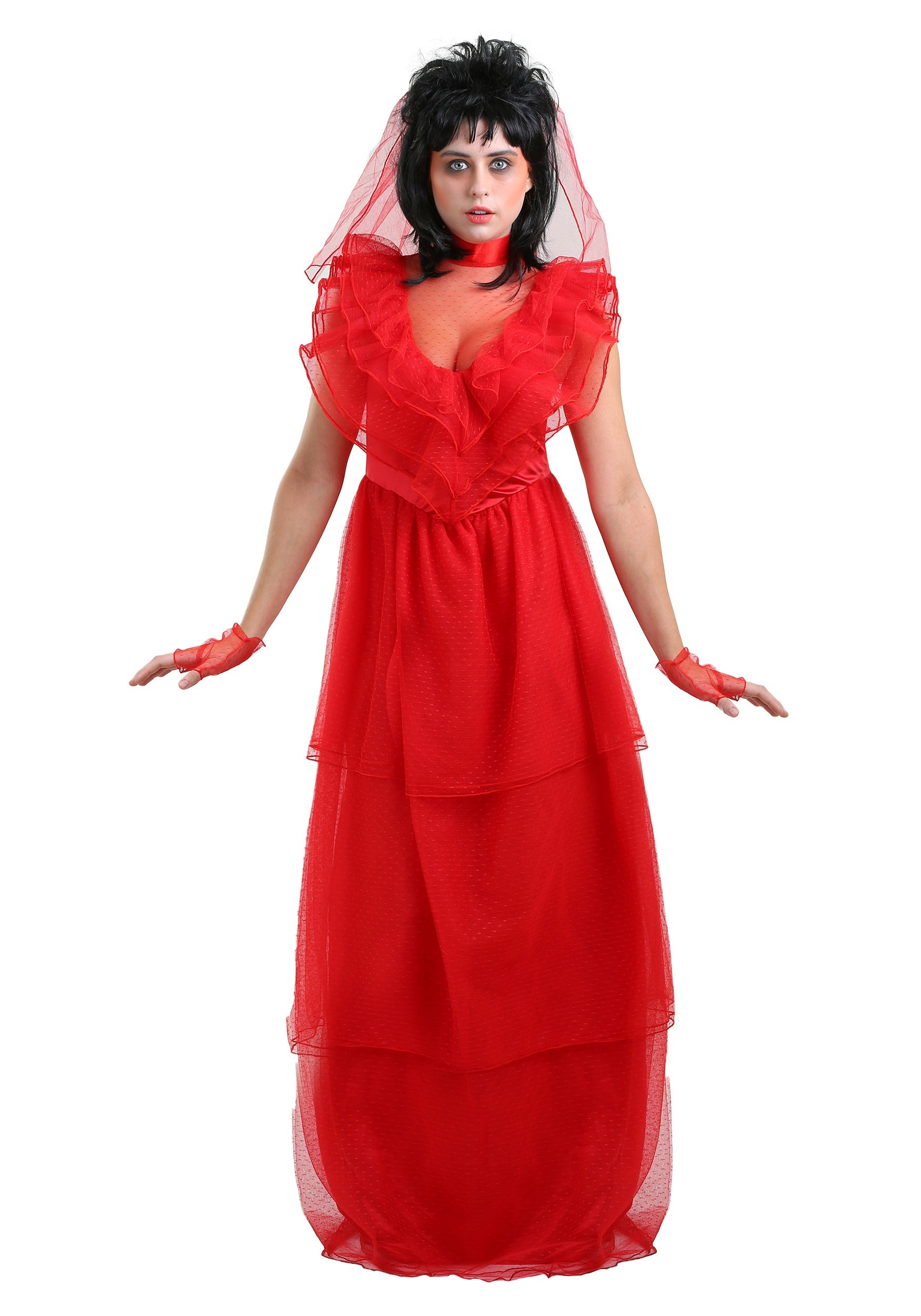 Red Gothic Wedding Dress For Women