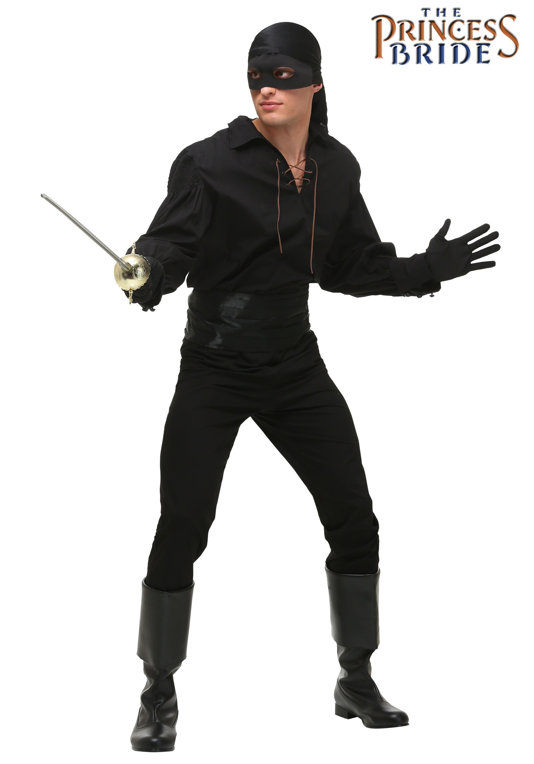 Dread Pirate Roberts Costume Princess Bride Westley Pirate Outfit Man in Black