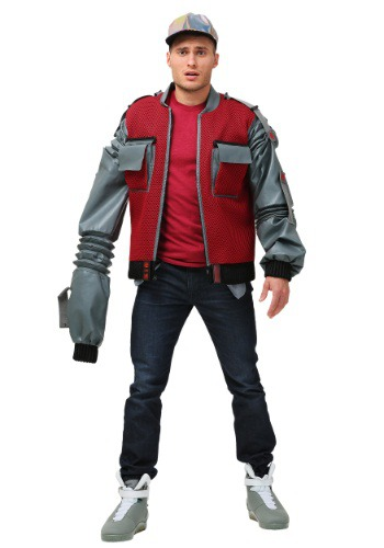 Image of Plus Size Men's Authentic Marty McFly Jacket from Back to the Future