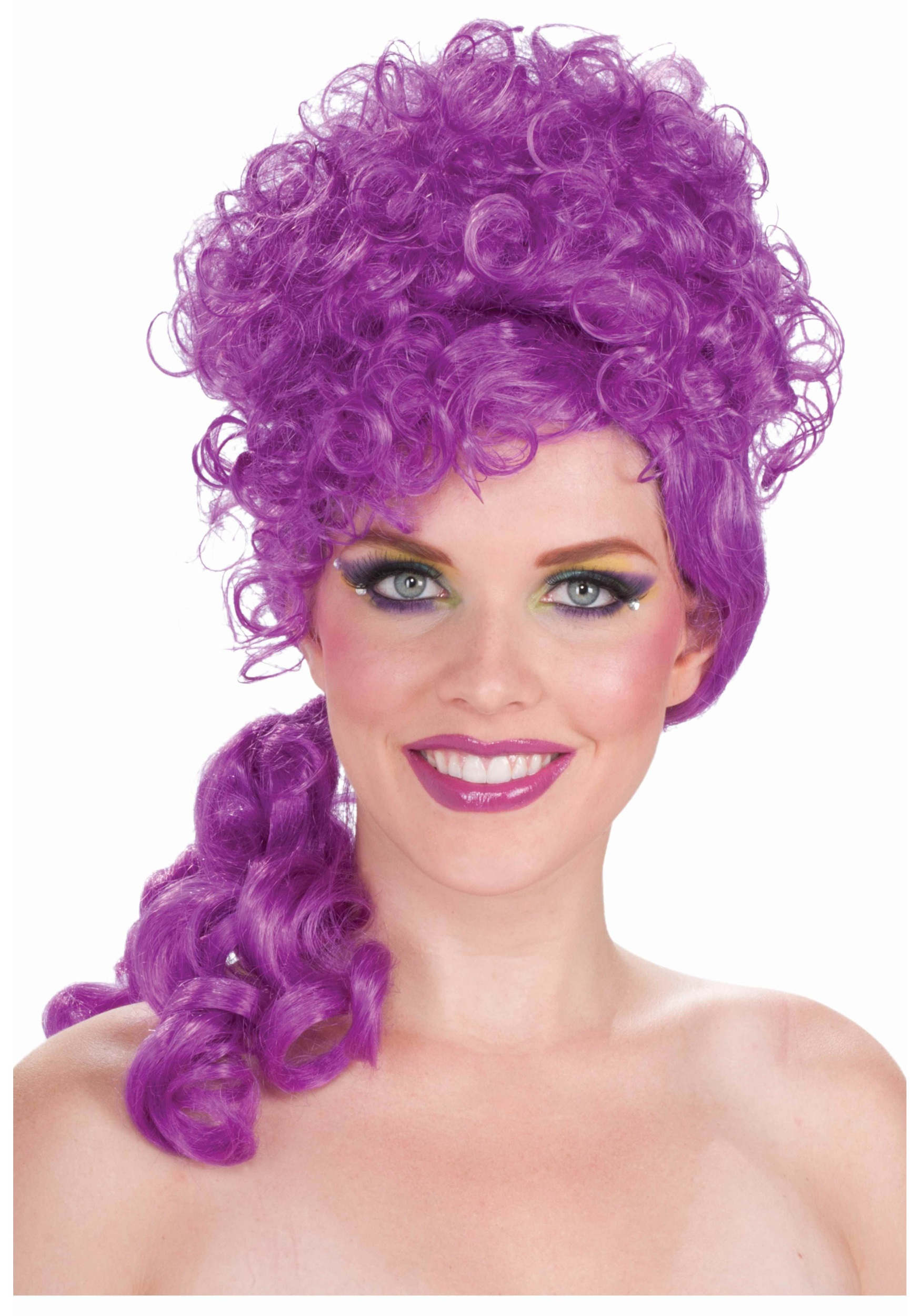 Add some cute factor to your clown costume with this big top belle clown wig ...