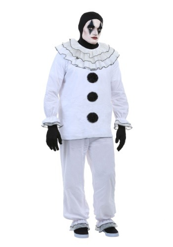 Click Here to buy Mens Vintage Pierrot Clown Costume from HalloweenCostumes, USA Funds & Shipping
