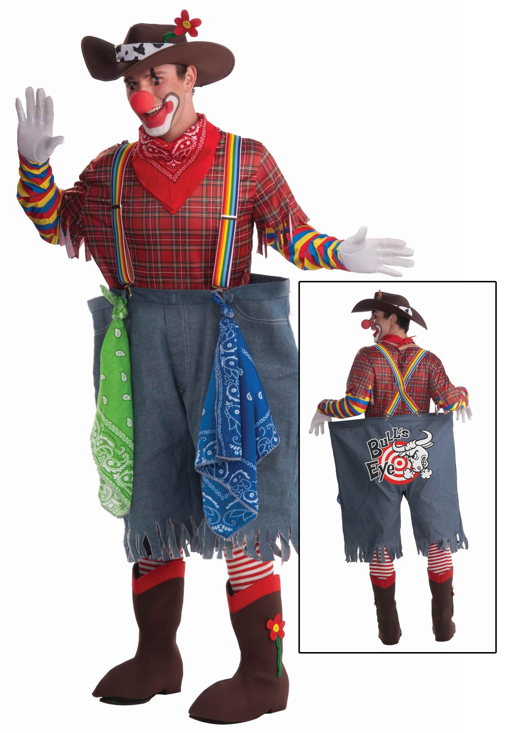 adult rodeo clown costume zoom Car with funny exhaust