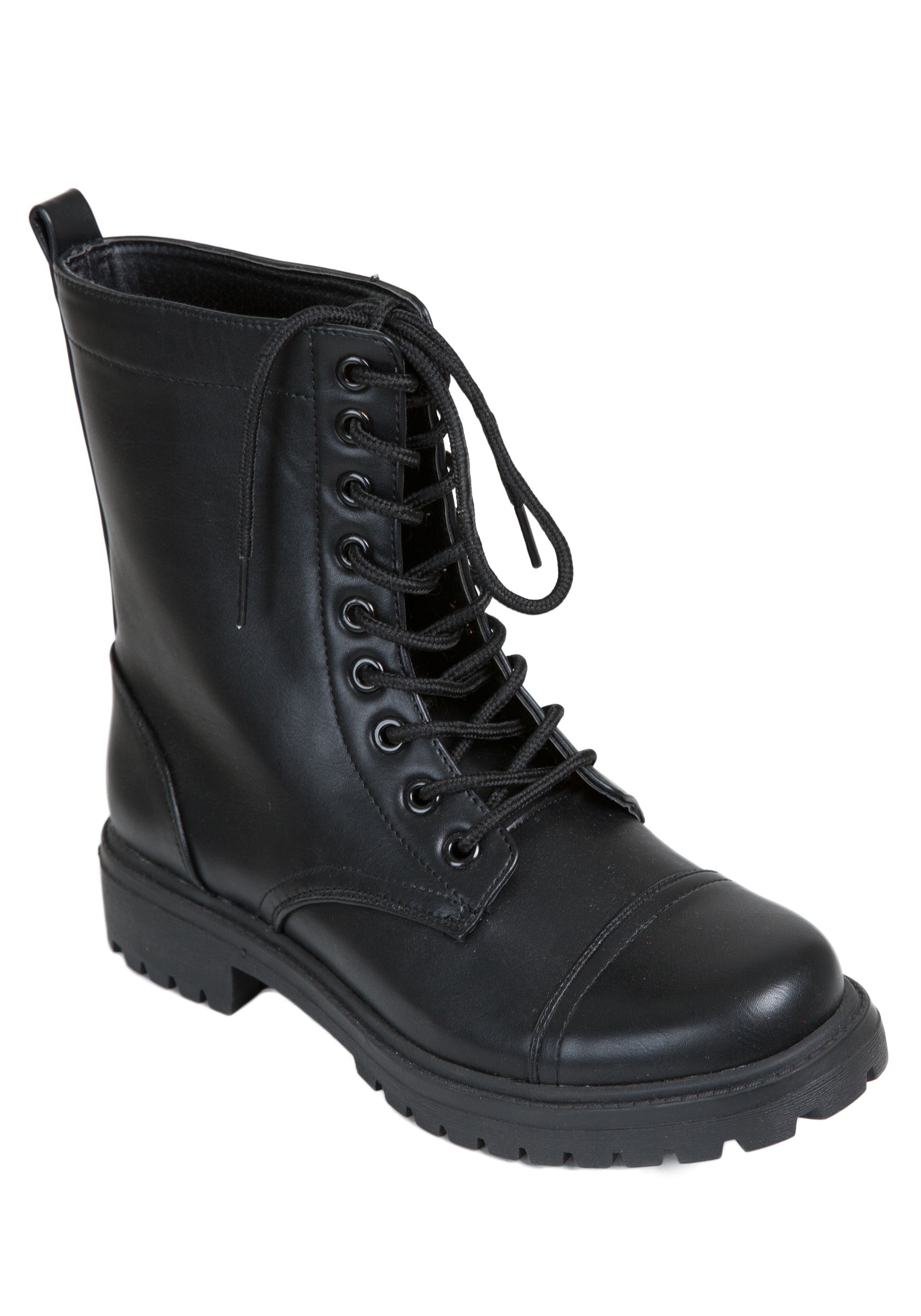 Perfect Combat Boot Black - Womens Boots