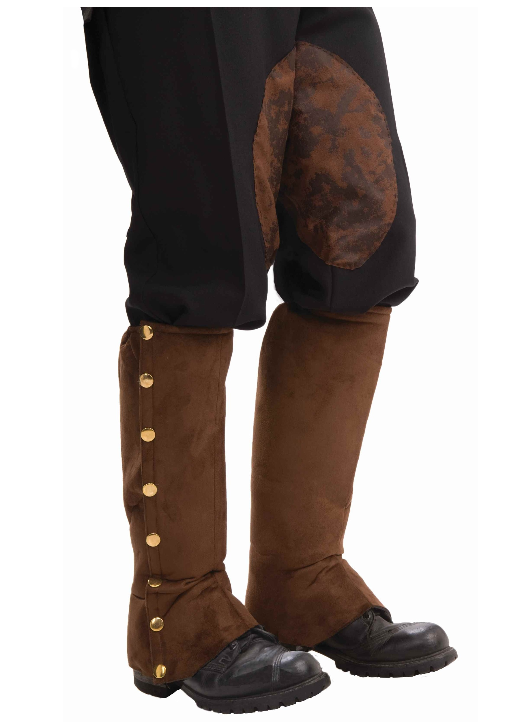 Steampunk Suede Shoe Spats