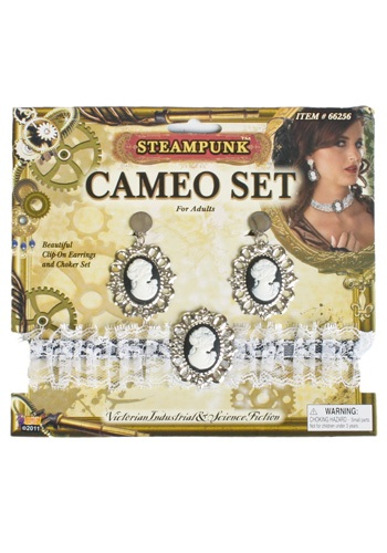 Click Here to buy Steampunk Cameo Set - Victorian Cameo Jewelry from HalloweenCostumes, CDN Funds