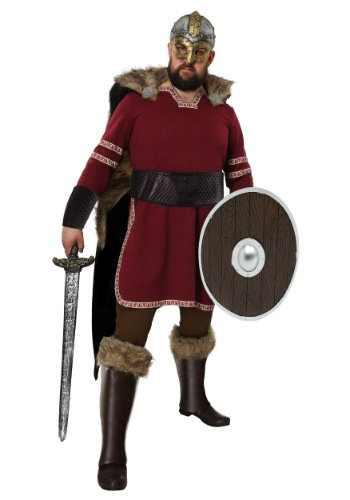 Men's Burgundy Viking Costume