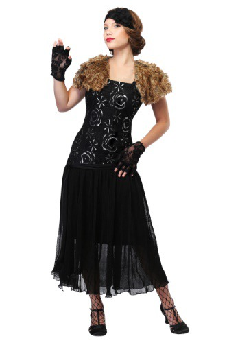 great gatsby black dress