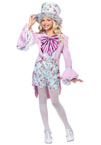 Pretty Mad Hatter Girls Costume FUN0241CH