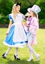 Girl's Pretty Mad Hatter Costume Alt 1