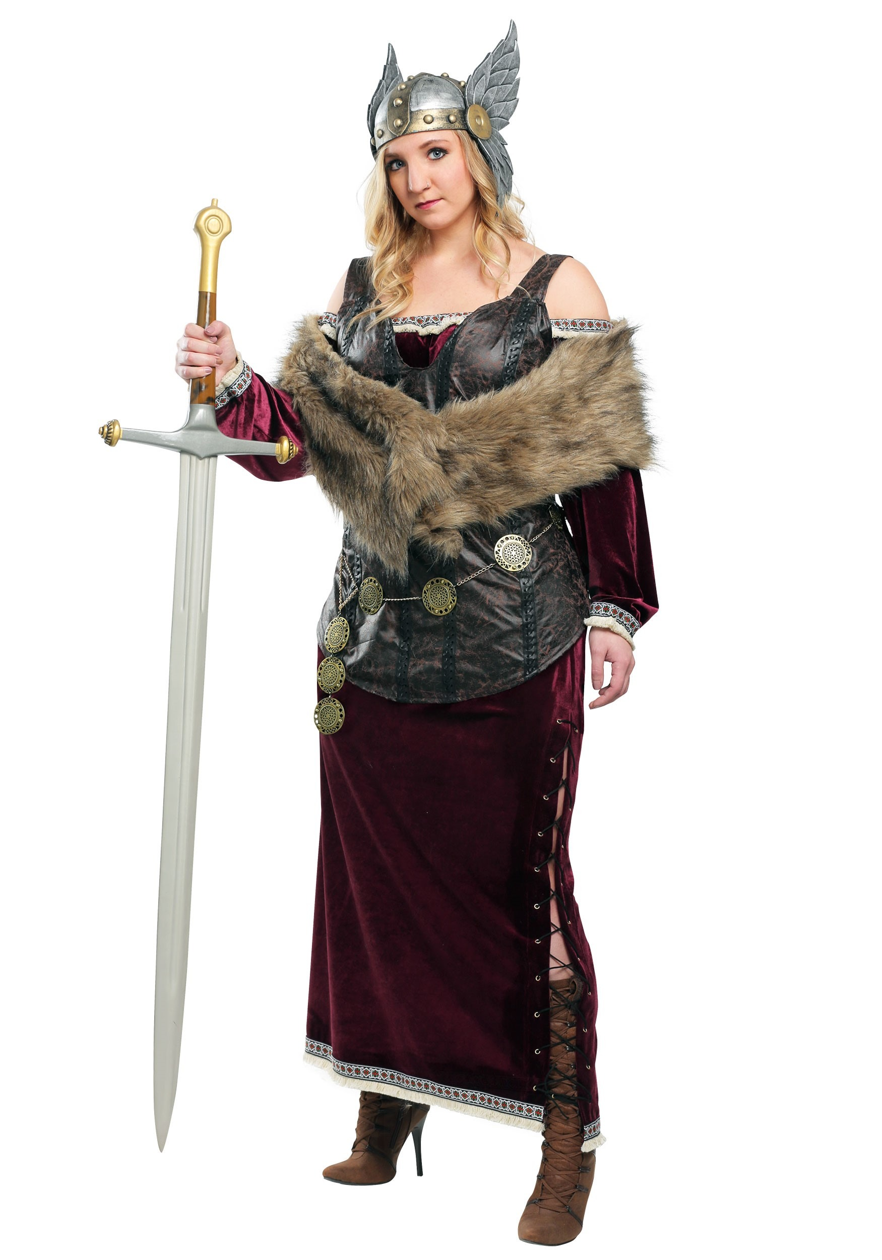 Womenu0027s Viking Goddess  sc 1 st  Halloween Costumes & Viking Costumes u0026 Warrior Outfits - HalloweenCostumes.com