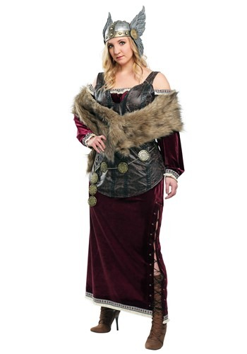 Womens Plus Sized Viking Goddess Costume