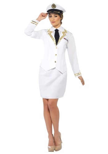 Click Here to buy Naval Officer Plus Size Womens Costume from HalloweenCostumes, USA Funds & Shipping
