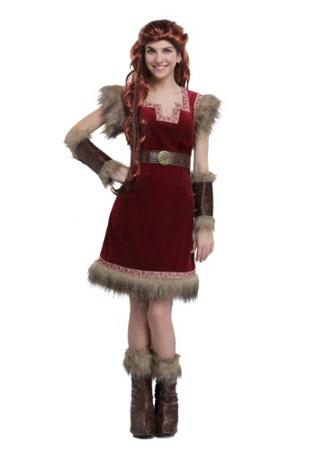 Click Here to buy Barbarian Viking Womens Costume from HalloweenCostumes, USA Funds & Shipping