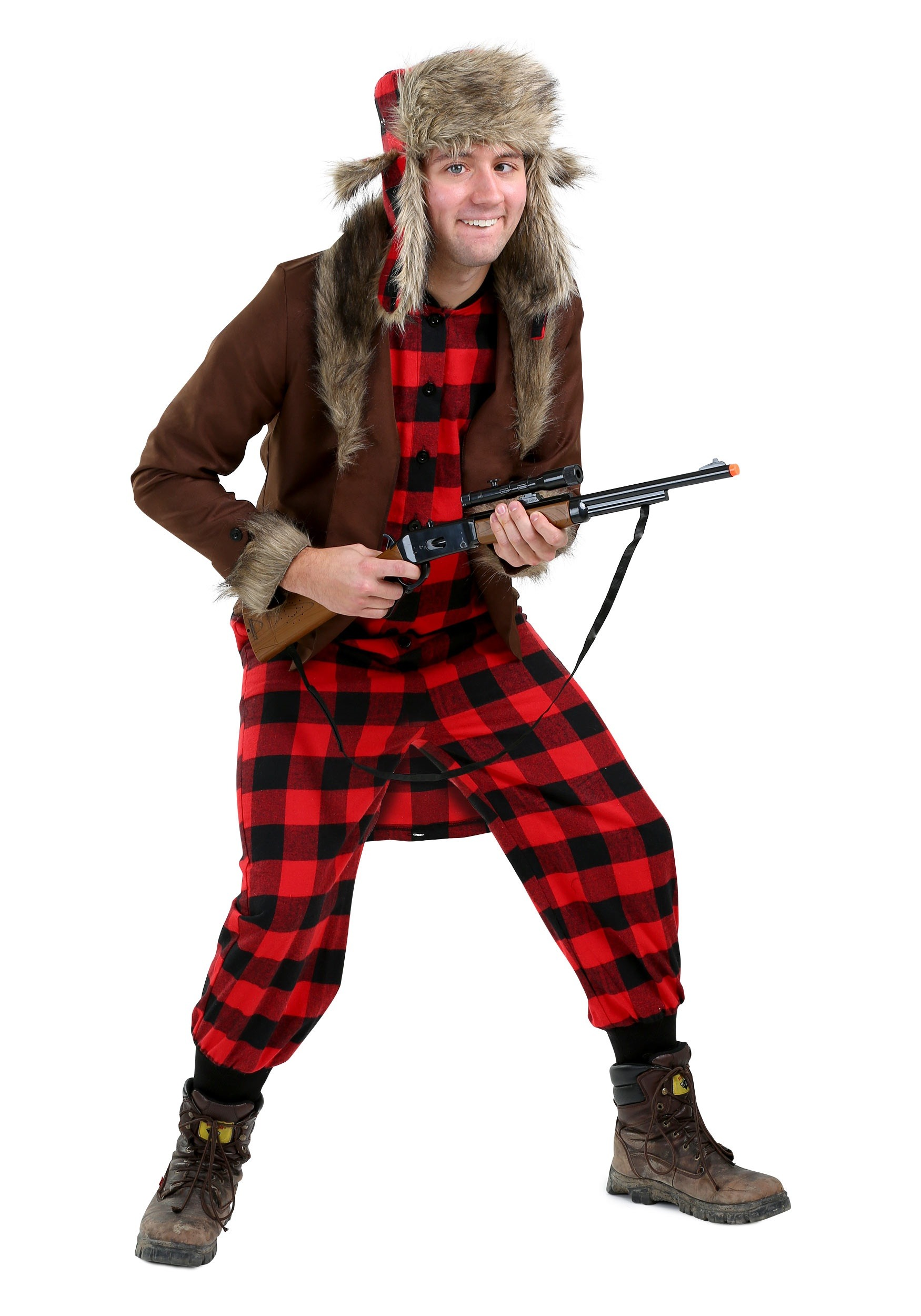 Funny Wabbit Hunter Costume For Adults