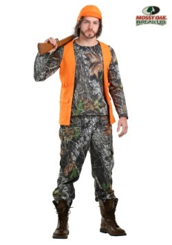 New Orange Hunting Cap with Long Beard Costume Orange Outdoor Sportsman ages 4