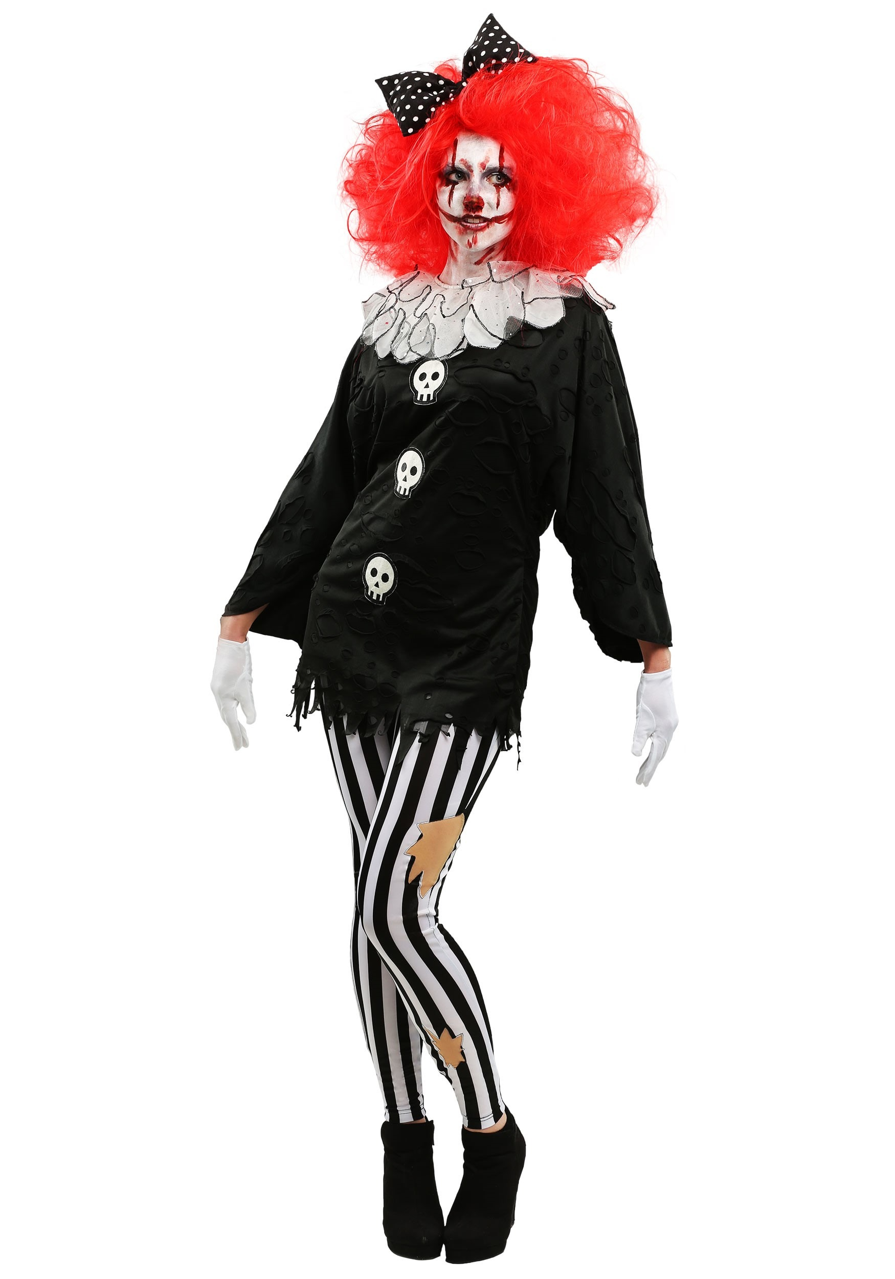 Frightful Clown Womens Costume  sc 1 st  Halloween Costumes & Frightful Clown Costume for Women