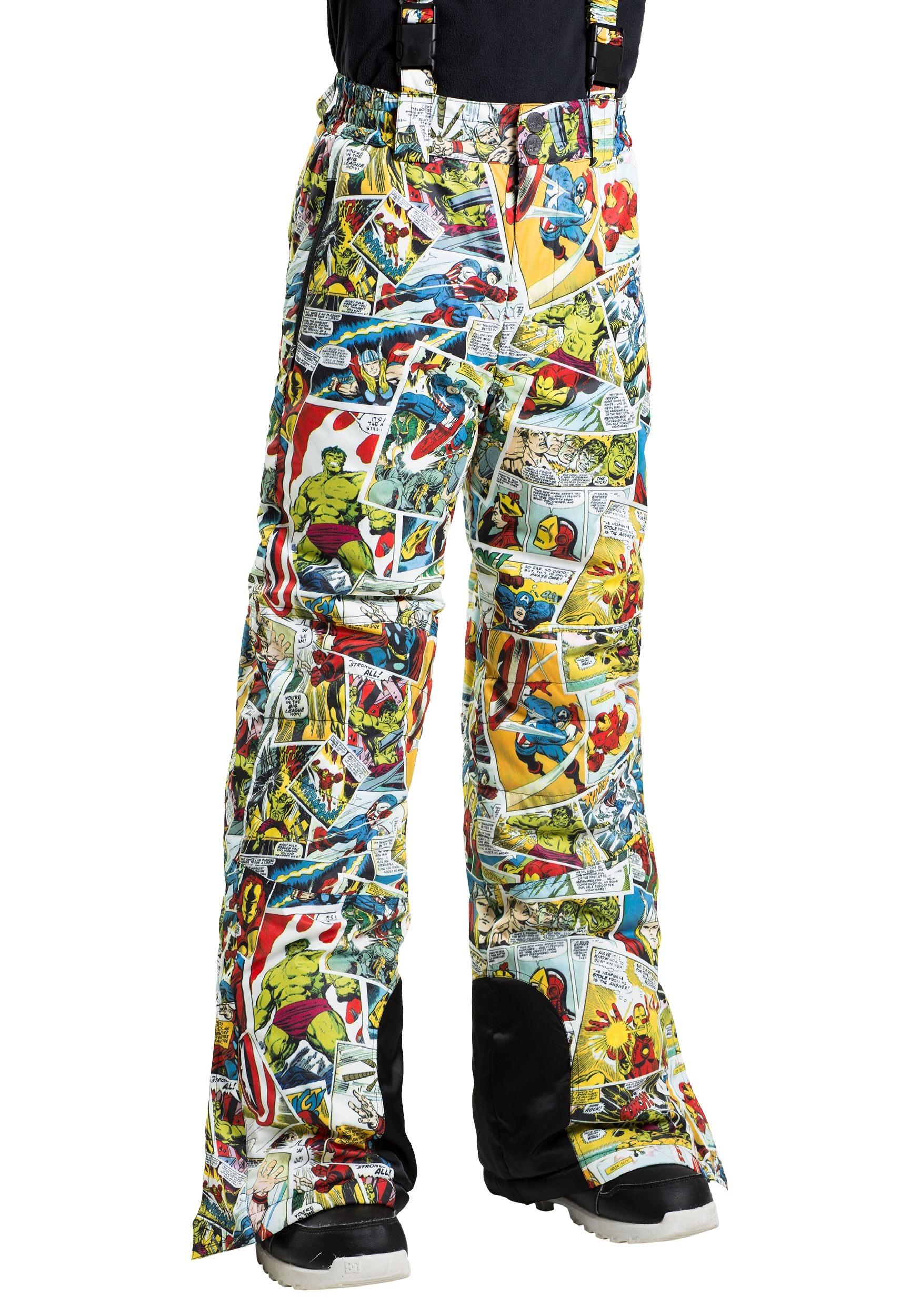 Kids Marvel Comic Print Superhero Snow Pants FUN9047CH