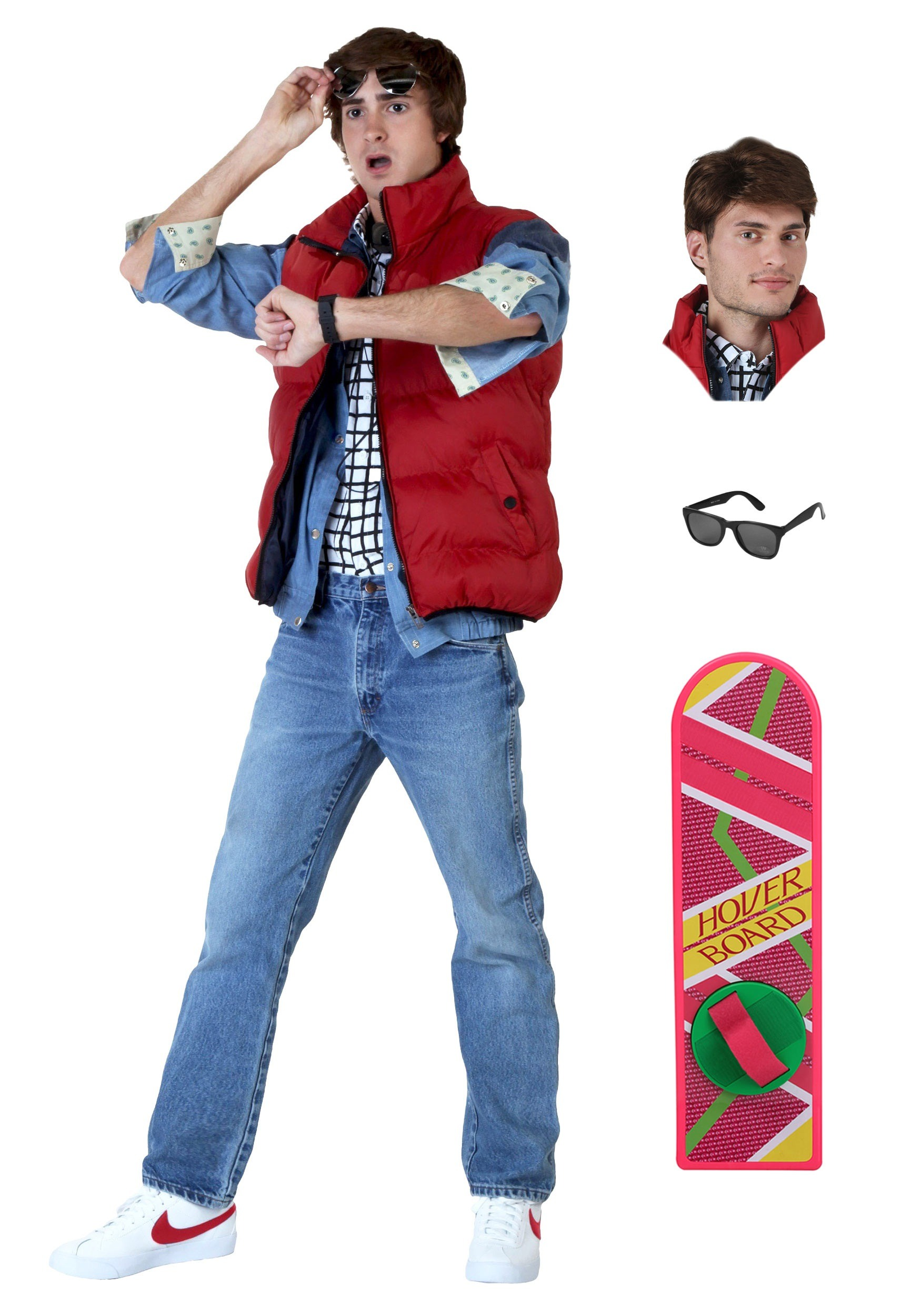 marty mcfly mens costume package from back to the future