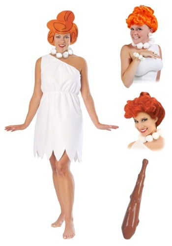 Wilma Flintstone Costume Package for Women