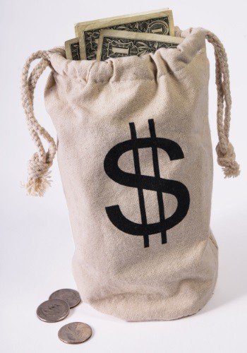 Bank Money Bag Prop