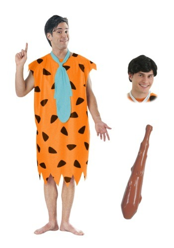 Adult Fred Flintstone Costume Package for Men