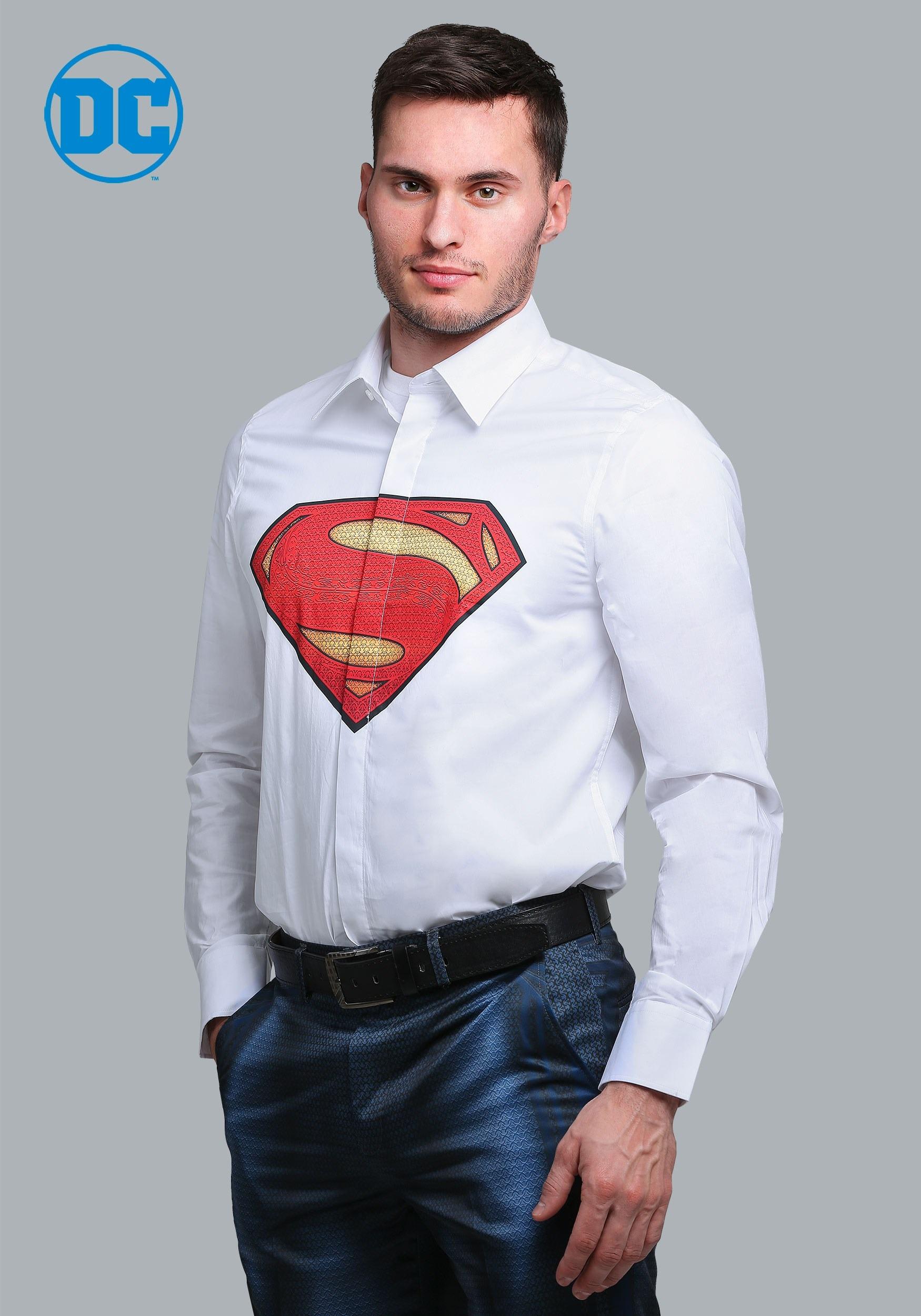 Superman Suit Shirt (Alter Ego)  sc 1 st  Halloween Costumes & Superman Slim Fit Dress Shirt (Alter Ego)