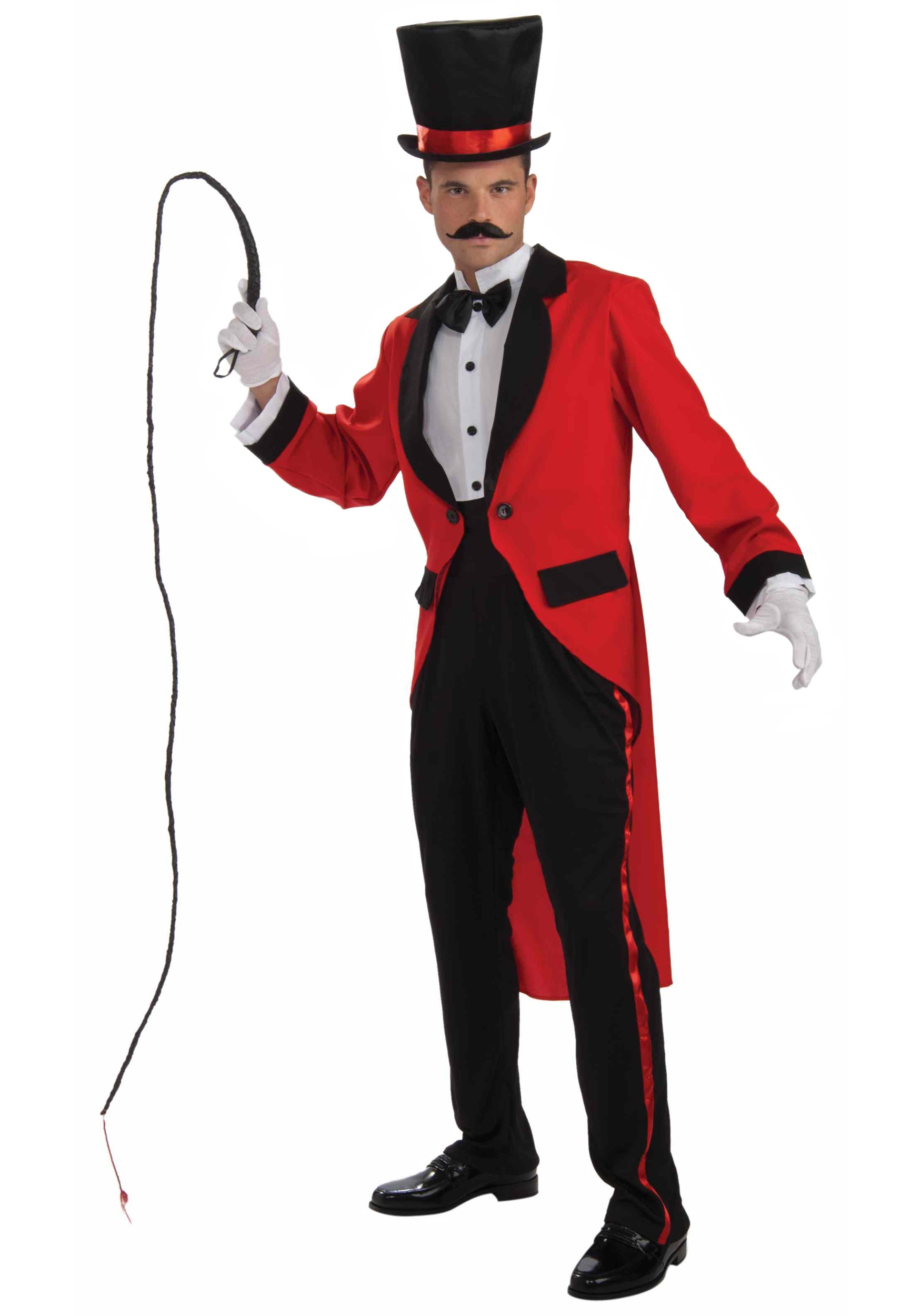 ADULT RING MASTER COSTUME with Jacket w/ attached shirt Pants Cummerbund
