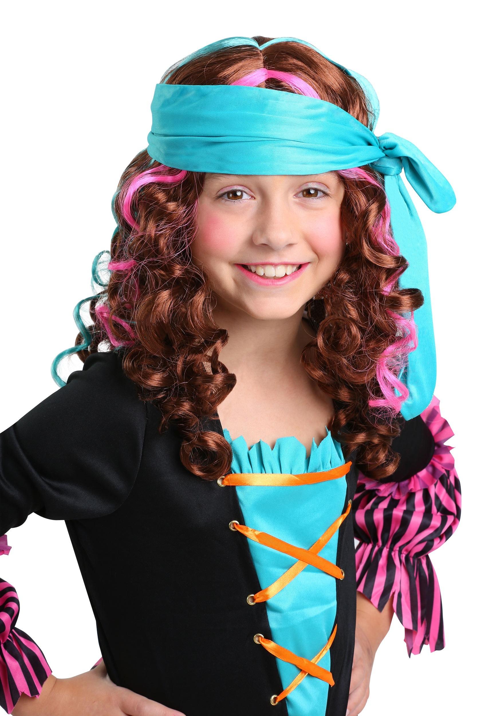 7d8e7b80545 Girl's Pirate Princess Wig