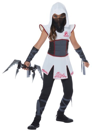 White Ninja Costume for Girls