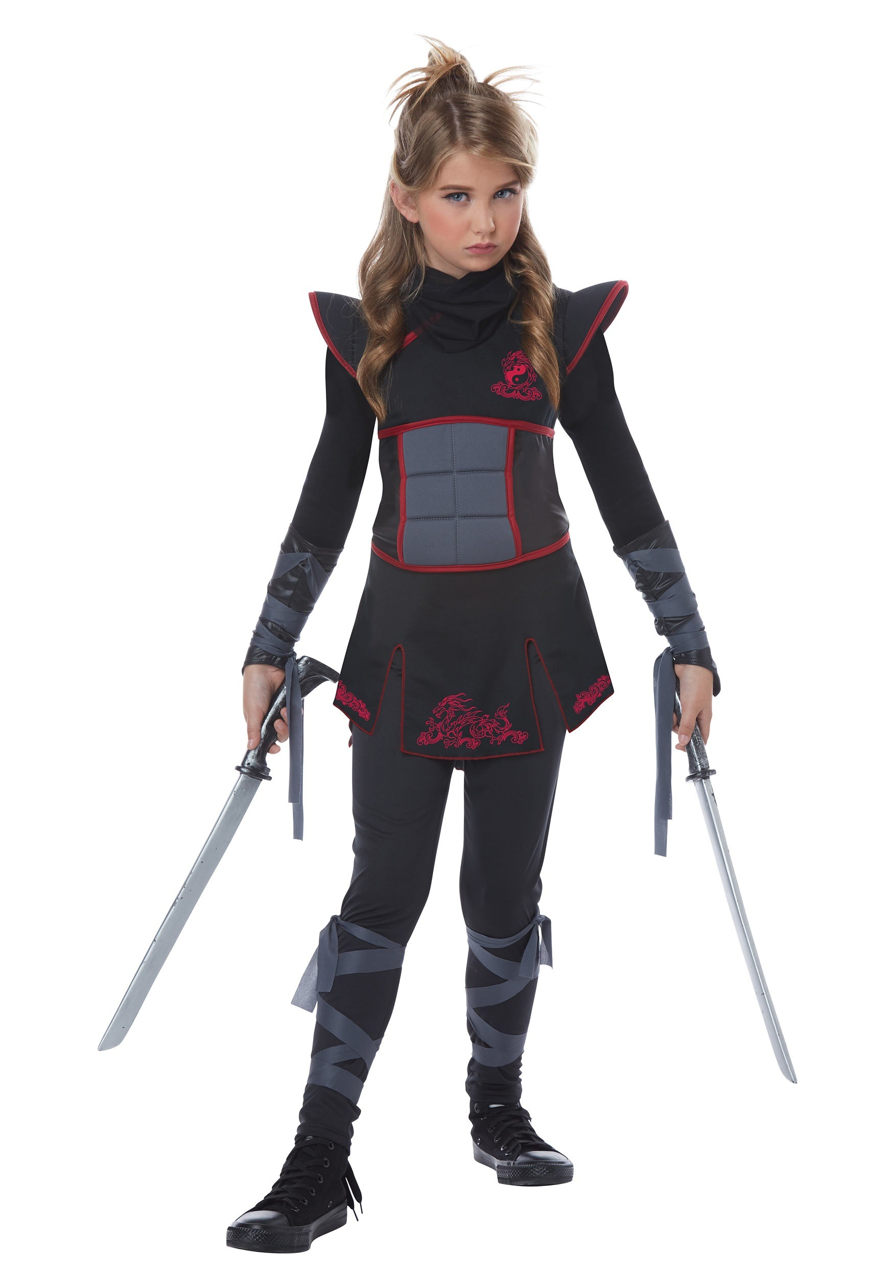 Girls Black Ninja Costume Girls Black Ninja Costume ...  sc 1 st  Halloween Costumes & Black Ninja Costume for Girls