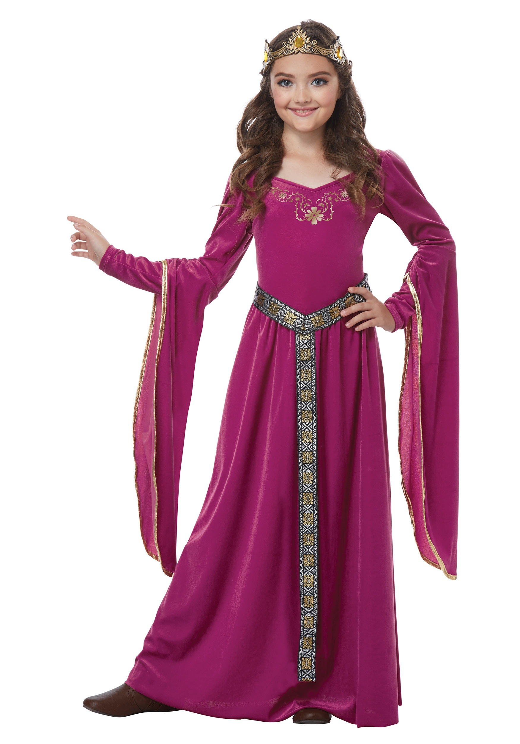 Girls Medieval Princess Costume  sc 1 st  Halloween Costumes & Medieval Princess Costume for Girls
