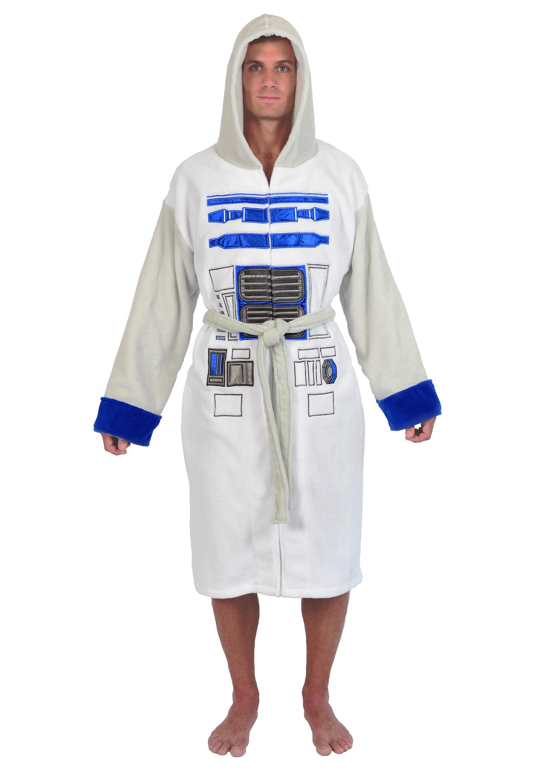 ba32d39a78 Star Wars R2D2 Fleece Robe for Men