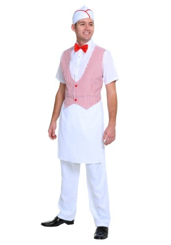 Click Here to buy 1950s Car Hop Mens Costume from HalloweenCostumes, USA Funds & Shipping