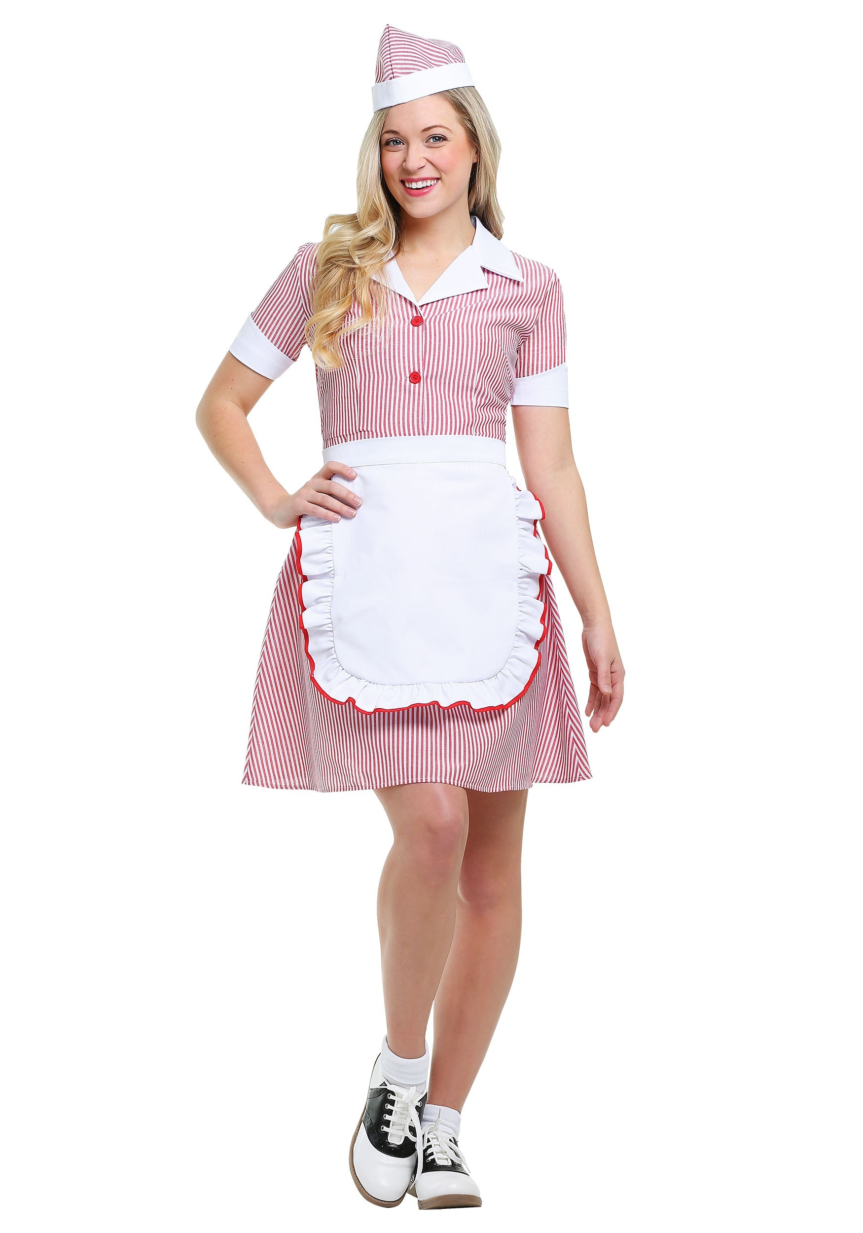 Womenu0027s Car Hop Costume  sc 1 st  Halloween Costumes & 1950s Costumes u0026 Dresses For Adults - HalloweenCostumes.com