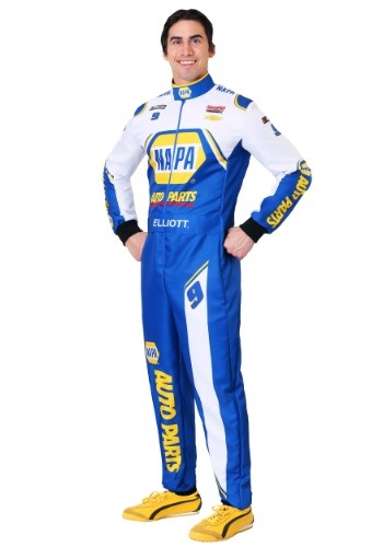 NASCAR Chase Elliott Mens Plus Uniform Costume