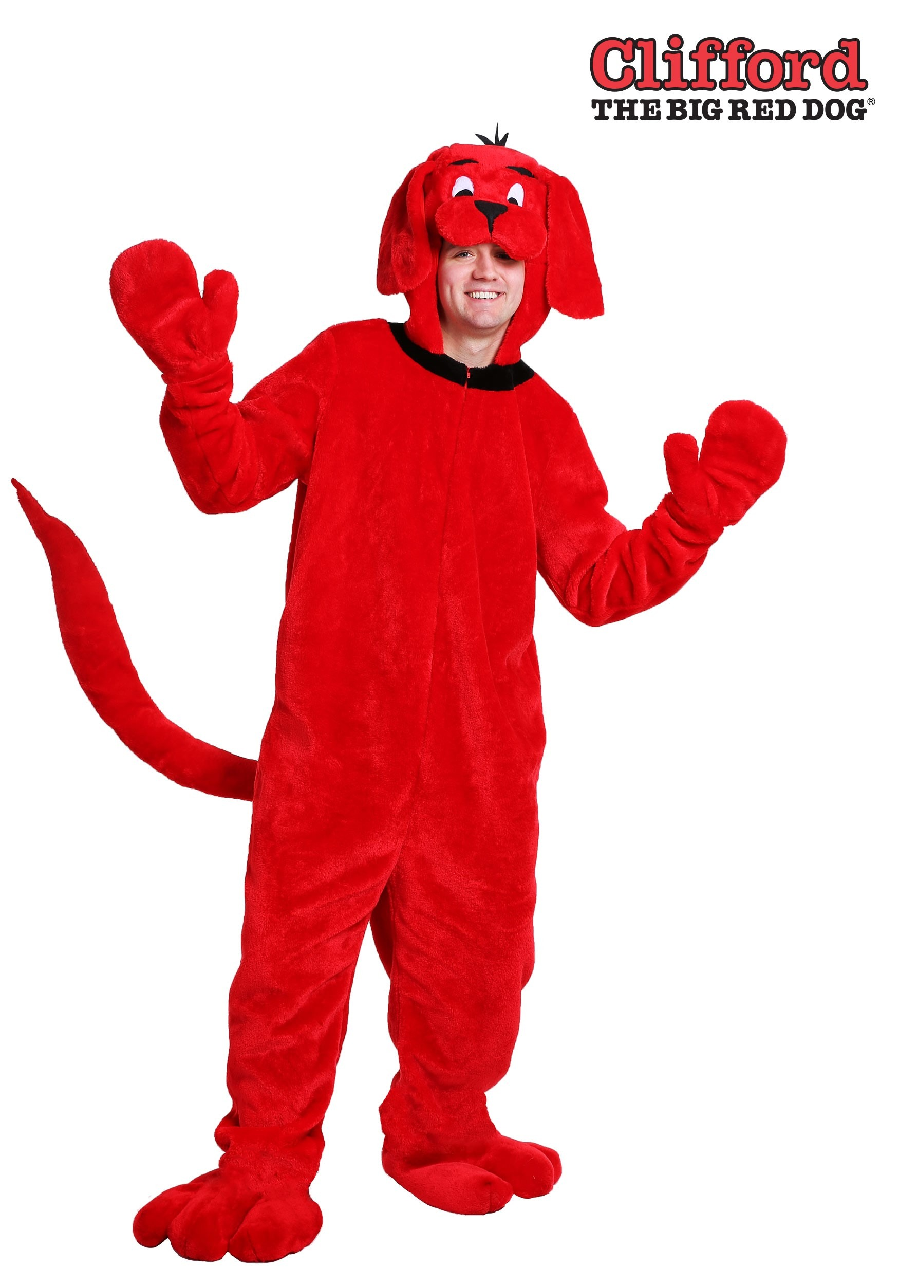 e67d74f49eb Clifford the Big Red Dog Plus Size Costume for Adults 2X 3X