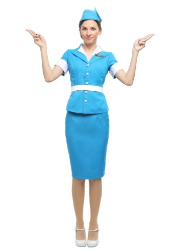 Plus Size Womens Flight Attendant Costume