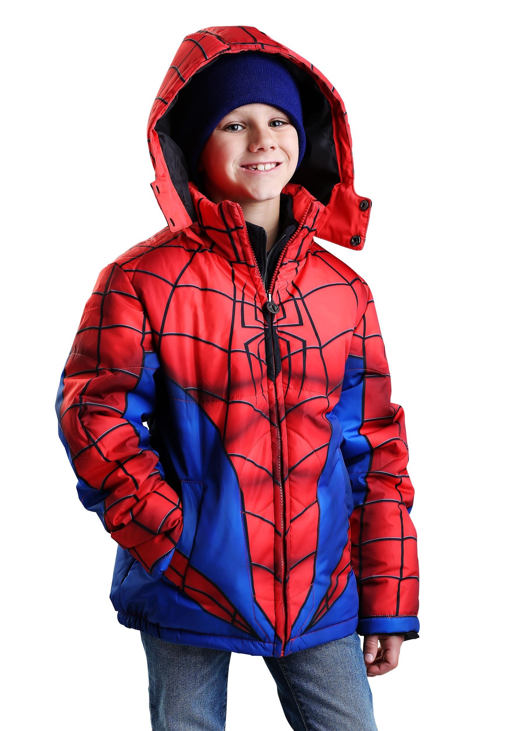 Child Spider-Man Puffer Superhero Jacket FUN9065CH