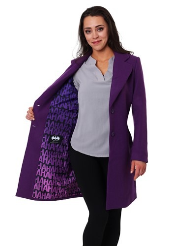 Click Here to buy DC Comics The Joker Wool Coat for Women from HalloweenCostumes, CDN Funds
