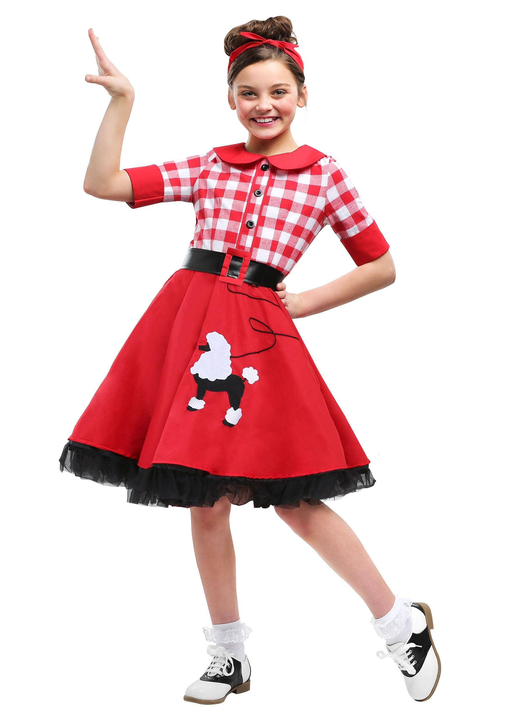 50s Darling Girls Costume 2499 Adult Pink Poodle Skirt