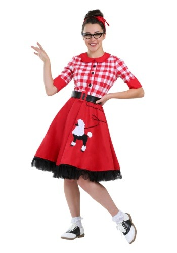 Click Here to buy 50s Darling Plus Size Womens Costume from HalloweenCostumes, USA Funds & Shipping