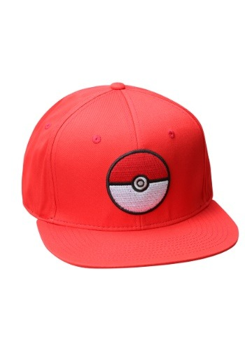 Image of Pokemon Pokeball Trainer Red Snapback Hat