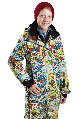 Kids Marvel Comic Print Snow Jacket