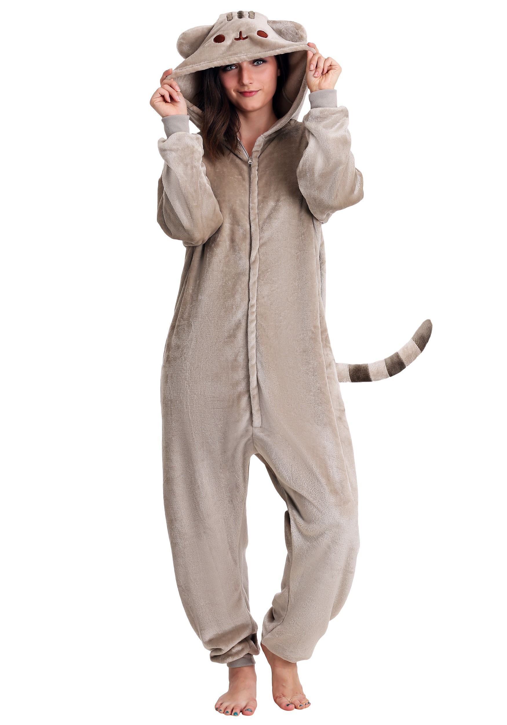 Adult Pusheen Cat Kigurumi Costume-update1  sc 1 st  Halloween Costumes & Pusheen Cat Kigurumi Costume for Adults