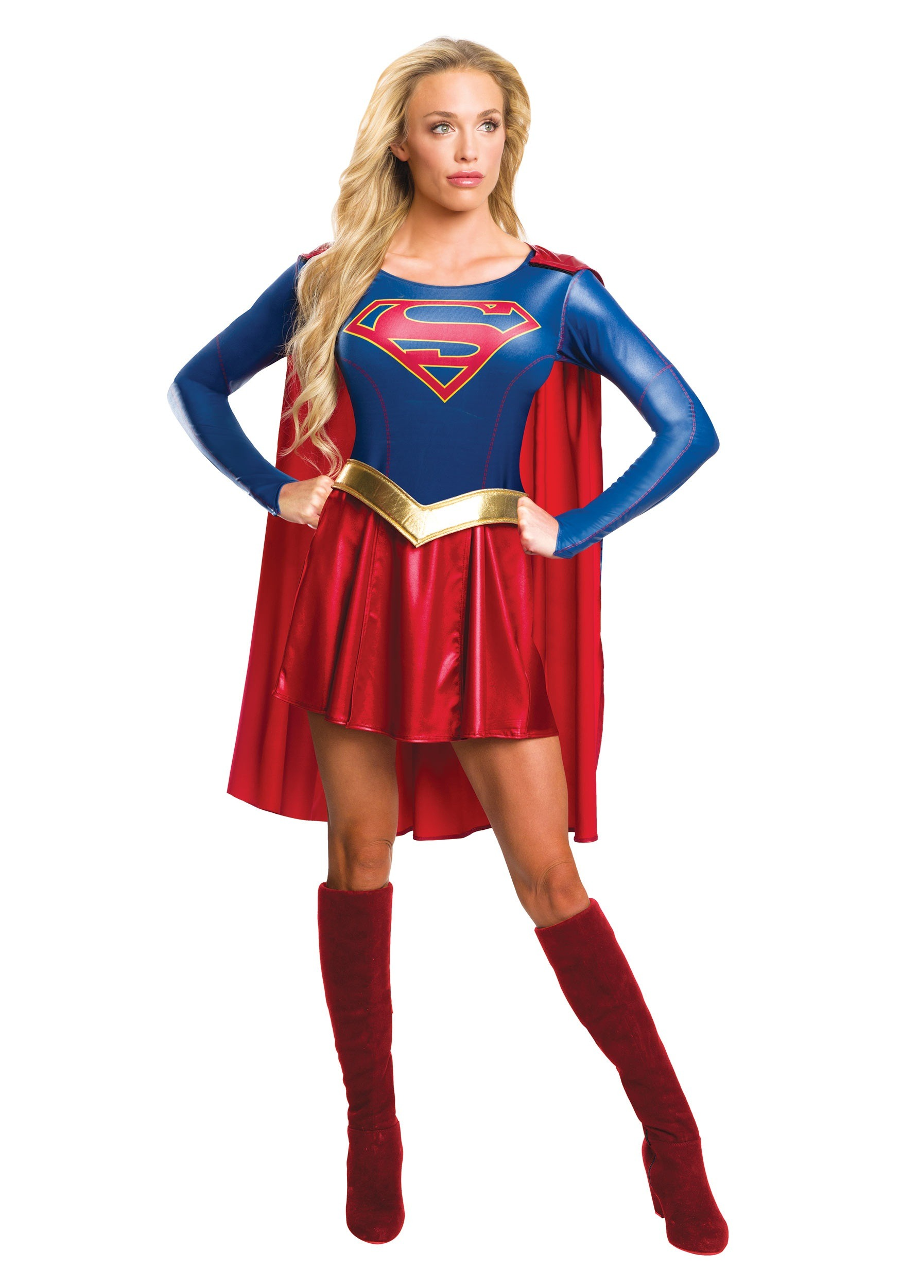 Womens superhero costumes for halloween halloweencostumes womens supergirl tv costume solutioingenieria Choice Image