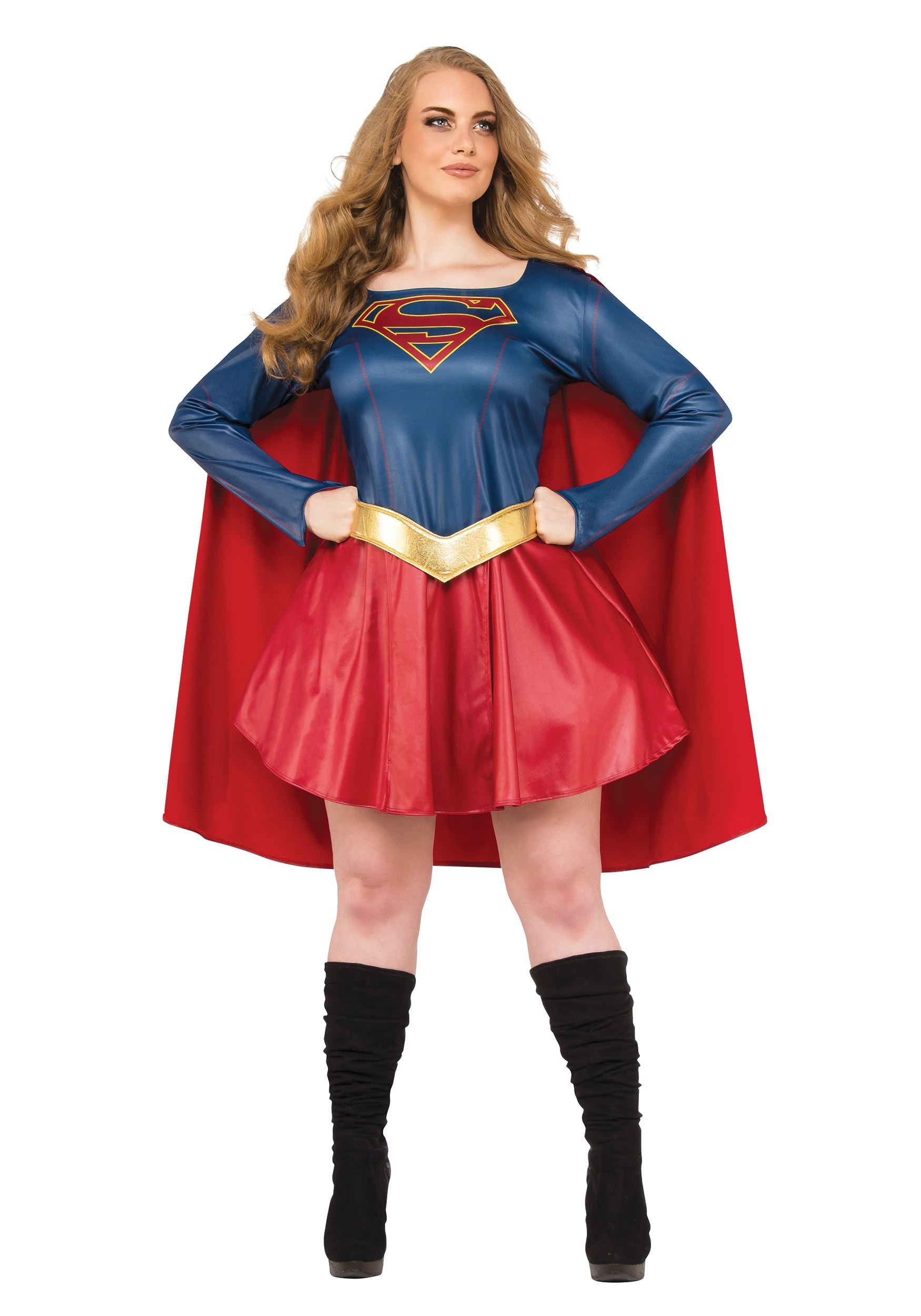 Womenu0027s Plus Size Supergirl TV Costume  sc 1 st  Halloween Costumes & Superwoman u0026 Supergirl Costumes - Adult Toddler Supergirl Costume