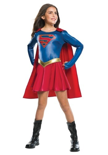 Click Here to buy Girls Supergirl TV Costume from HalloweenCostumes, CDN Funds