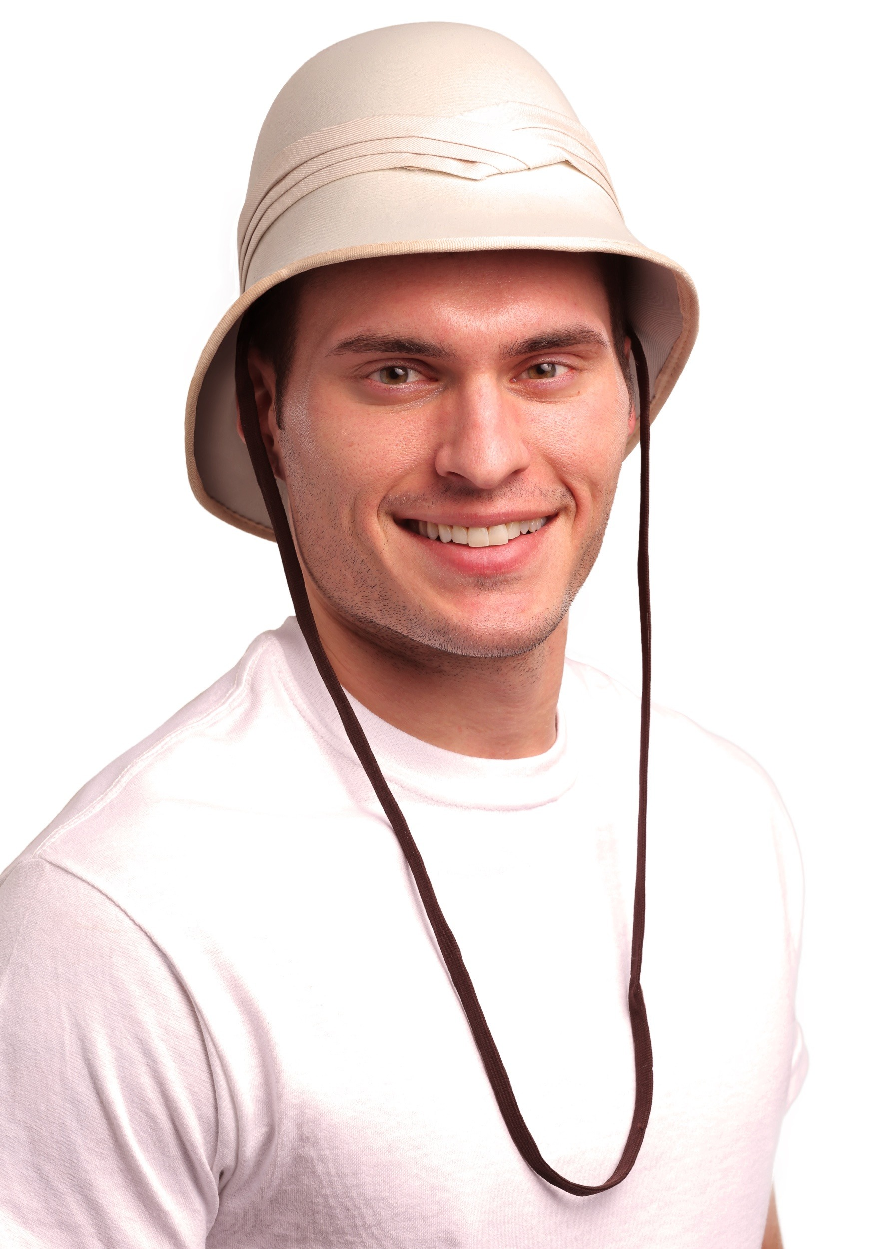 Deluxe Jungle Safari Helmet British Pith Hunting Sun Hat Adult Costume Accessory